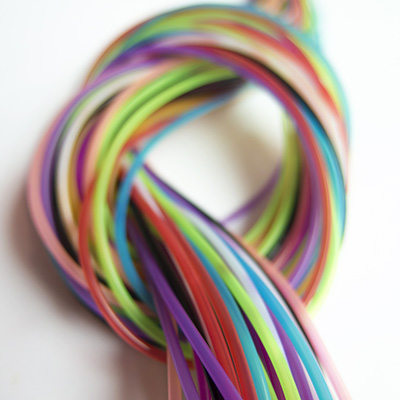 colored thread tied with a knot